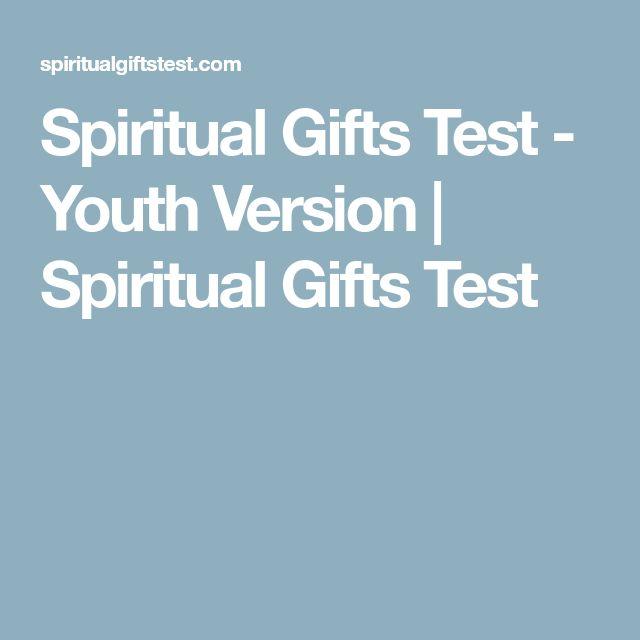 Spiritual Gifts Test - Youth Version | Spiritual Gifts Test