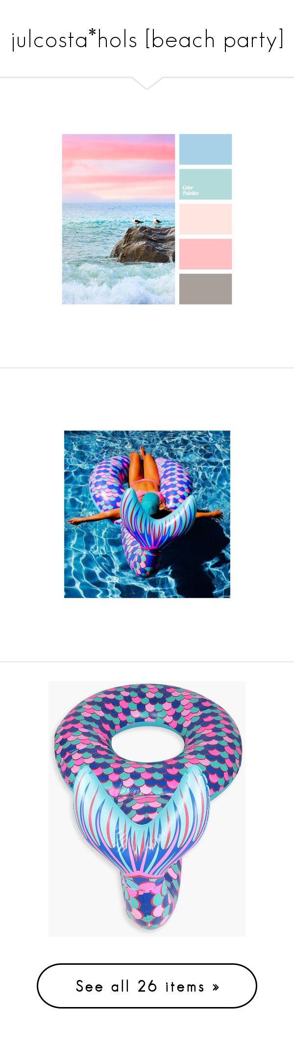 """julcosta*hols [beach party]"" by zaiee on Polyvore featuring people, hair, pictures, swimwear, bikinis, bikini tops, halter neck bikini top, swimsuit tops, halter bikini and tankini tops"