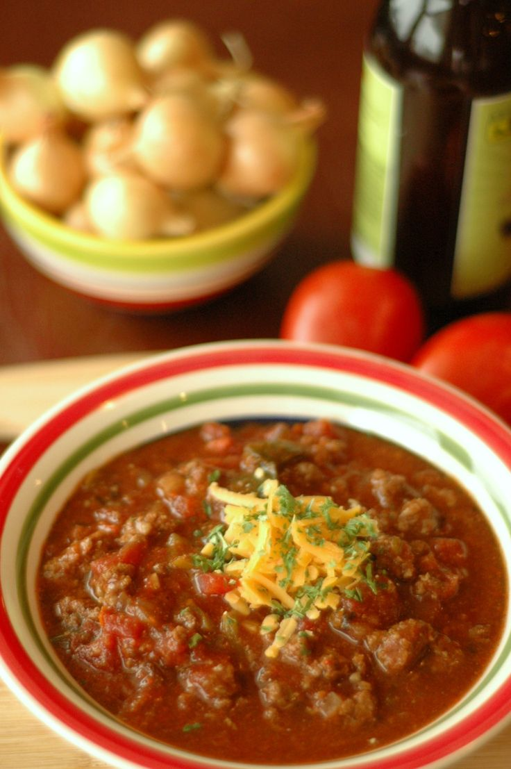 Crockpot Bison and Poblano Chili