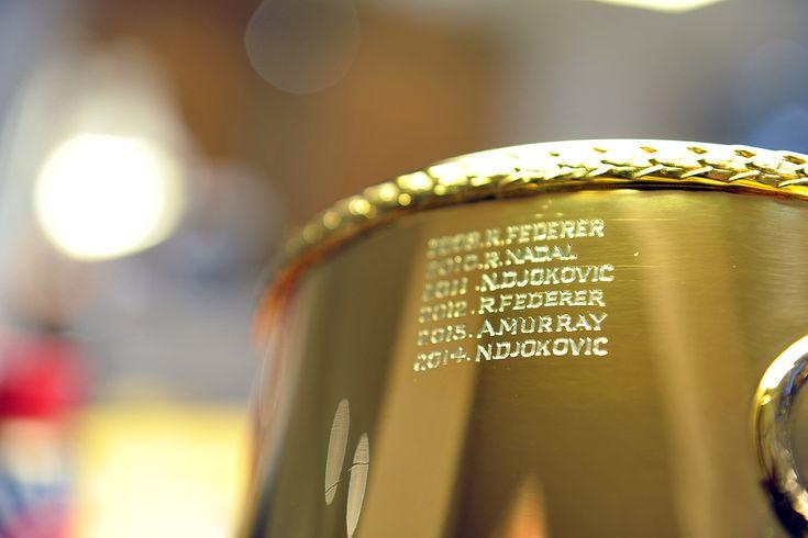 Gentlemen's Singles Champion: Novak Djokovic Novak Djokovic's name is engraved on the Gentlemen's Singles Trophy