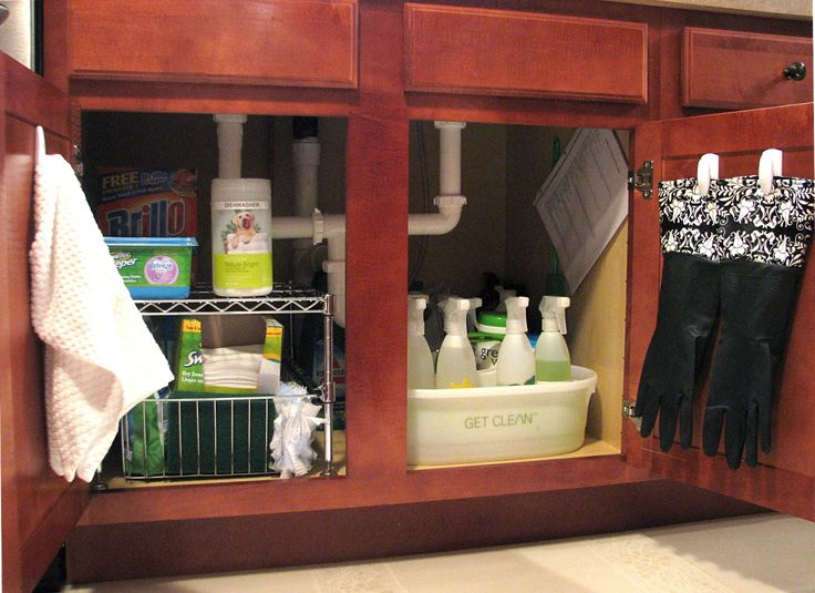 Under Kitchen Sink Organizer | Efficiency is key with this setup and I can honestly say it works ...