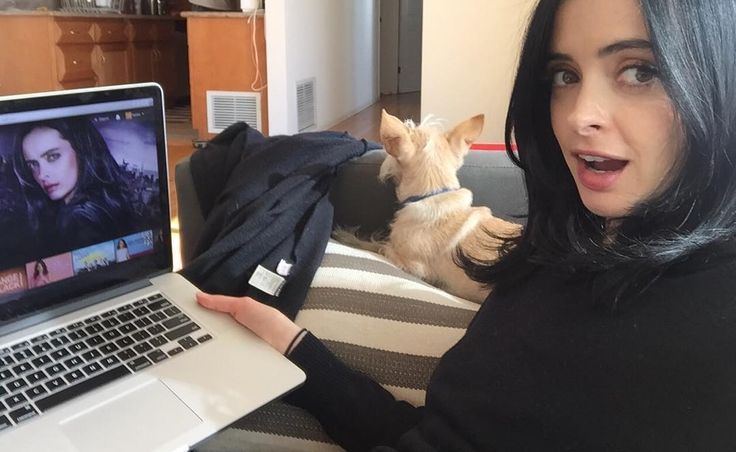 "8,582 Likes, 132 Comments - Krysten Ritter (@therealkrystenritter) on Instagram: ""Oh hi Netflix HOME PAGE!!! ahhhh!!! One week!!! #jessicajones #netflix"""