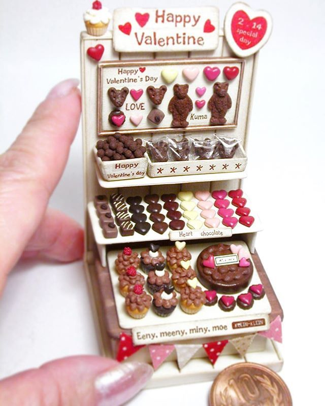 Miniature Box Chocolates Praline Candies Sweets Food Gift Valentine/'s Day 1:12