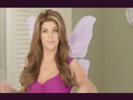 Kirstie Alley as a fairy!