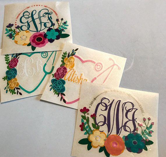 Boho Monogram Yeti Decal, vinyl monogram sticker, #papergoods #tag @EtsyMktgTool http://etsy.me/2agk5yW