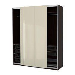 IKEA - PAX, Armario, 200x66x236 cm, , 10 años de garantía. Consulta las condiciones generales en el folleto de garantía.Utiliza la herramienta de planificación PAX para adaptar esta combinación PAX/KOMPLEMENT a tus gustos y necesidades.Las puertas correderas te dejan más sitio para poner muebles, ya que no ocupan espacio cuando están abiertas.Si quieres organizar el interior, puedes añadir los accesorios de interior de la serie KOMPLEMENT.Las patas regulables permiten corregir posibles…
