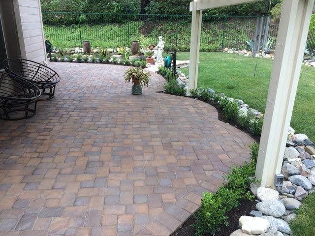 Patio Walkway #naturalstone #pavers #remodel #construction