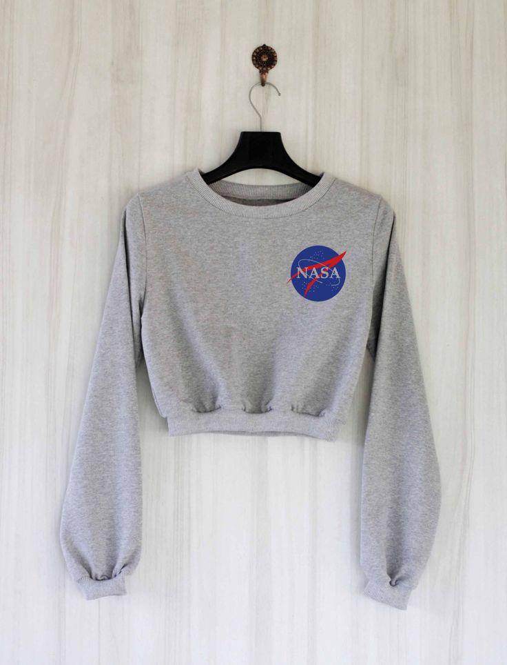 Nasa Crop Top Sweatshirt Sweater Jumper Pullover Shirt – Size S M L by SaBuy on Etsy https://www.etsy.com/listing/280105670/nasa-crop-top-sweatshirt-sweater-jumper