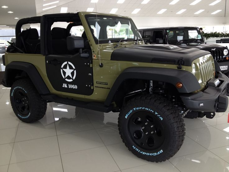 green and black jeep | OD Green & Black Jeep Wrangler | Jeeps | Pinterest