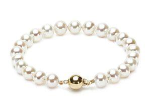 Białe perły 7,5-8,5 mm