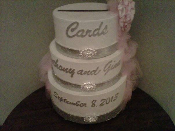 how to make a wedding cake out of cupcakes my bling wedding card box i made this from hat 15896