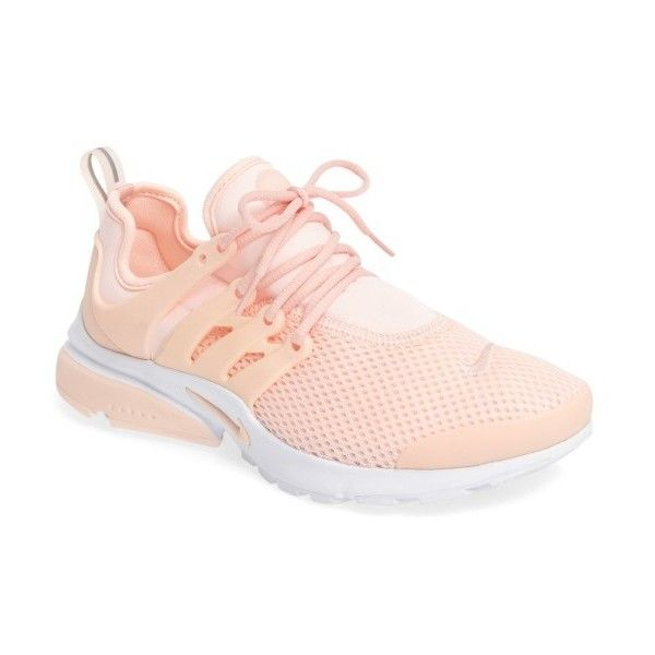 Women's Nike Air Presto Sneaker ($120) ❤ liked on Polyvore featuring shoes, sneakers, nike shoes, stretch trainer, caged shoes, breathable shoes and nike trainers