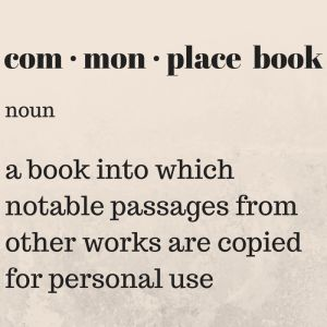 A Commonplace Book is a great way to keep topical information at hand.