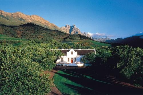 Cape Winelands, home of the Lanzerac Hotel & Spa, Stellenbosch, South Africa