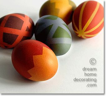 easter egg designs you can do with masking tape & dye