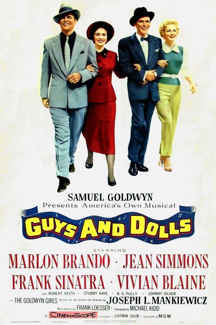 "Joseph L. Mankiewicz' musical ""Guys and dolls"" (1955), starring Marlon Brando, Jean Simmons, Frank Sinatra and Vivian Blaine."
