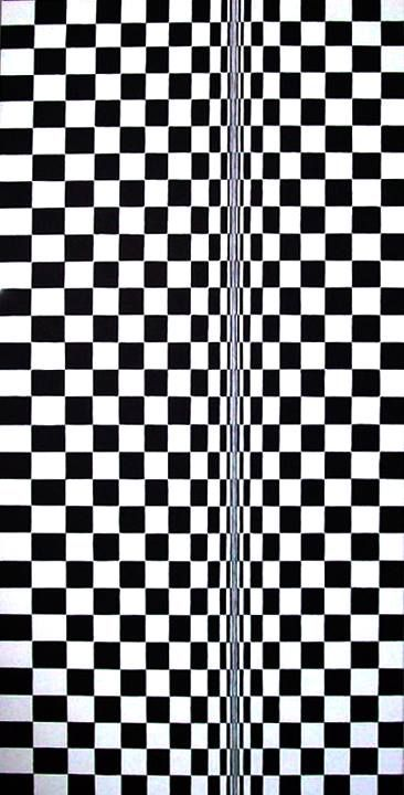 Matt Roi - Black and White acrylic on canvas 70x200