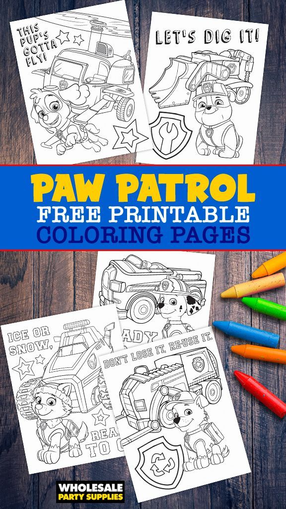 Paw Patrol Coloring Pages Free Coloring Coloring Pages Paw