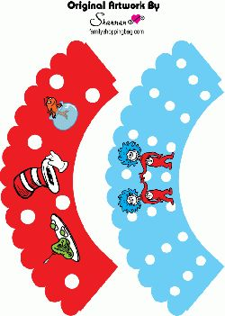 Free Printable Dr Seuss Cupcake Wrappers