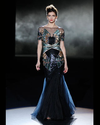 Couture art deco gown from fall 2013 badgleymischka badgley mischka fall 2 - Pinterest couture deco ...