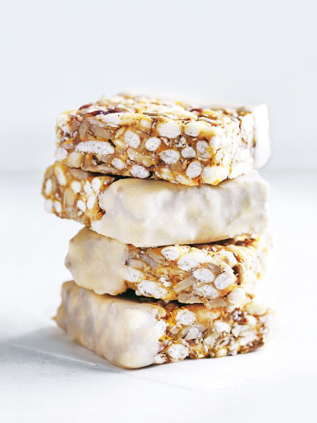 Puffed Brown Rice And Sunflower Seed Bars With Cashew Butter | Donna Hay