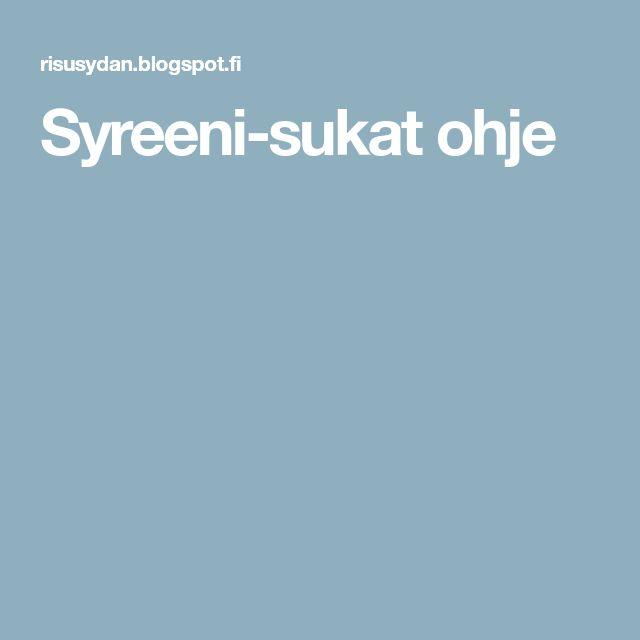Syreeni-sukat ohje