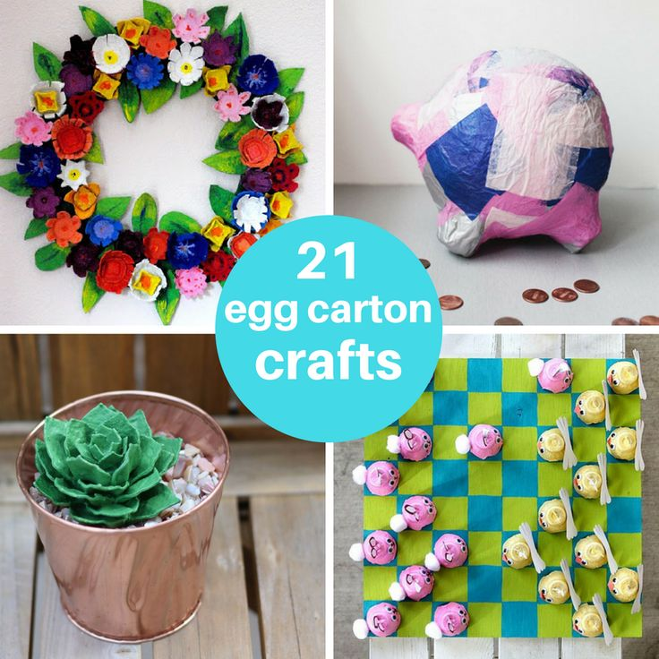Egg carton crafts for kids and adults