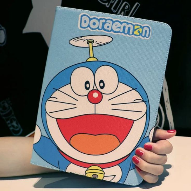 Tablet Case for Apple ipad 4 / 3 / 2 Doraemon cartoon style PU leather protective Cover stand shell coque para capa