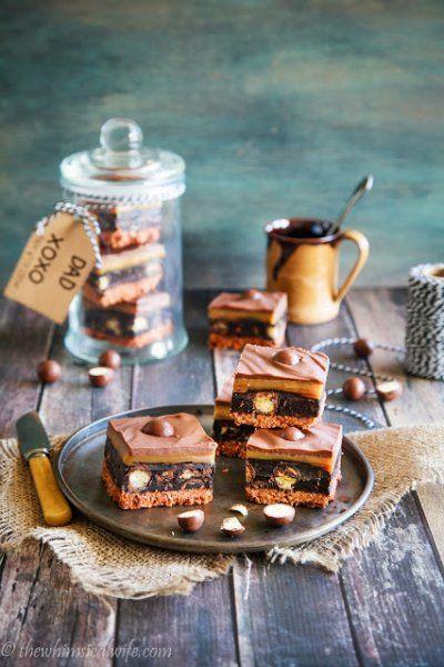 Salted Caramel No Bake Malteser Slice - The Whimsical Wife