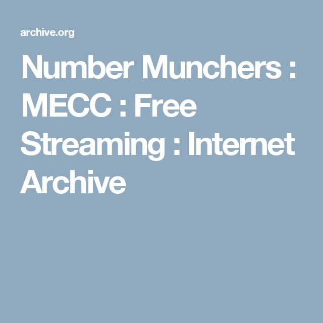 Number Munchers : MECC : Free Streaming : Internet Archive