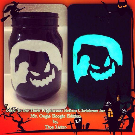 The Nightmare Before Christmas Oogie Boogie Mason Jar by MamaListroMasonJars