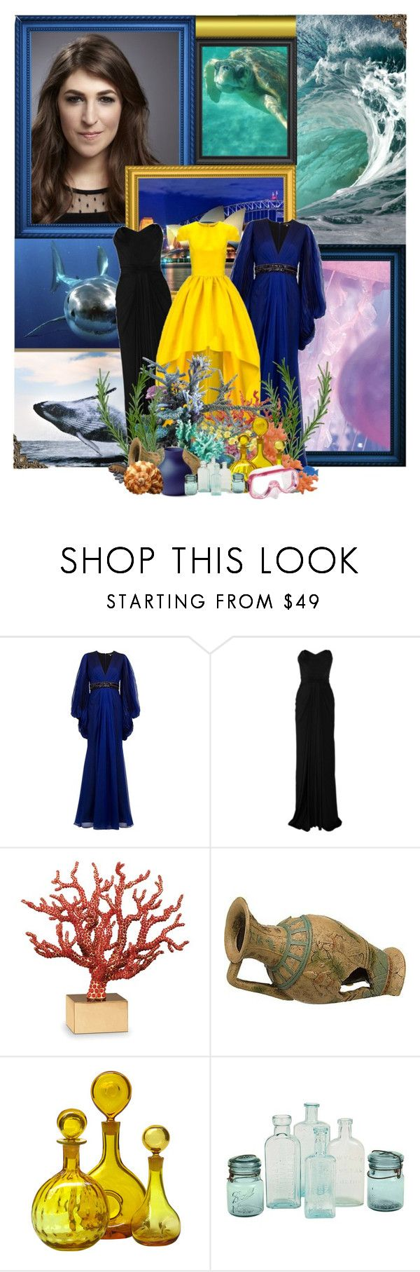 """""""""""Hey there, Mr. Grumpy Gills. When life gets you down do you wanna know what you've gotta do? Just keep swimming. Just keep swimming. Just keep swimming, swimming, swimming. What do we do? We swim, swim."""" Finding Nemo 2003"""" by storycosmicjasmine ❤ liked on Polyvore featuring Andrew Gn, Zac Posen, Katie Ermilio, L'Objet, Reef and Blenko"""