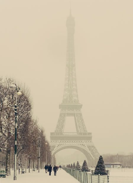 Paris & snow - beautifulBuckets Lists, Dreams, Eiffel Towers, Snow, Paris France, Winter Wonderland, Travel, Places