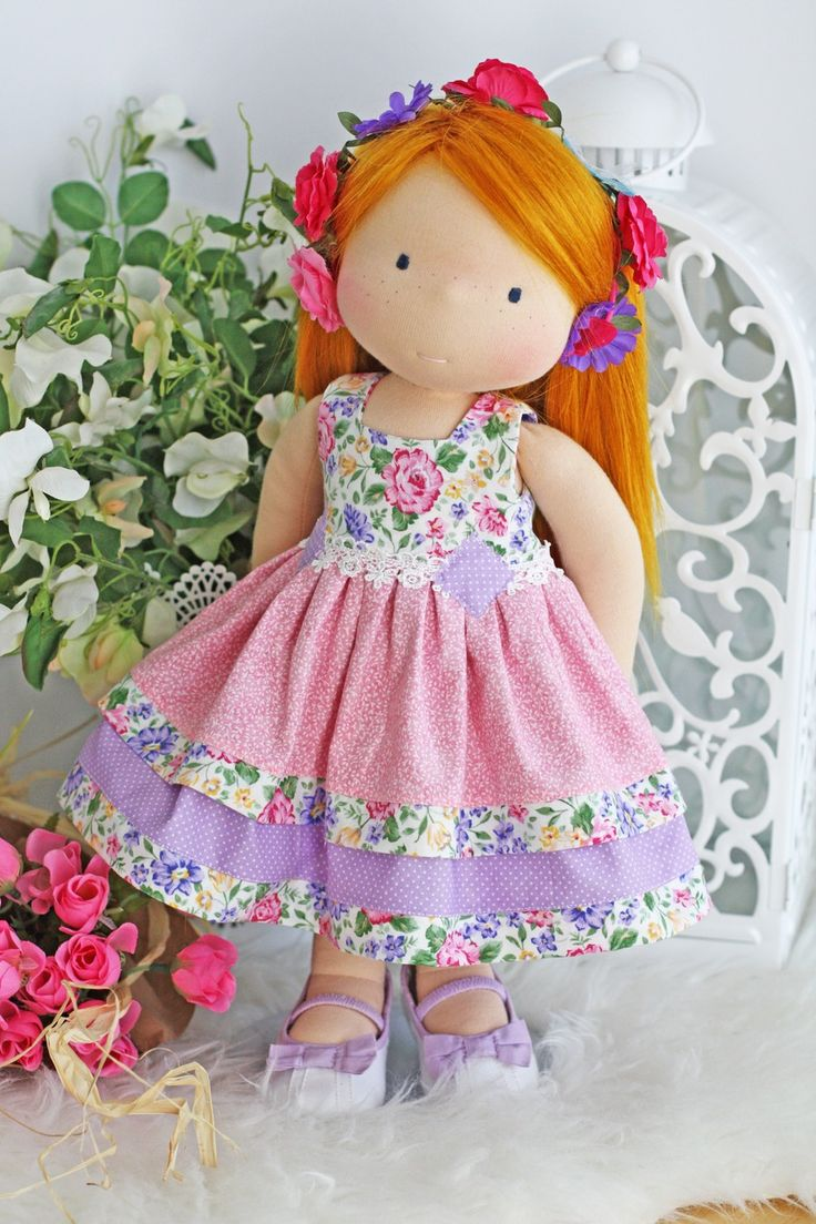 "Image of ""Positively Pretty In Pink Dress"" fits most 17"" -19"" dolls"