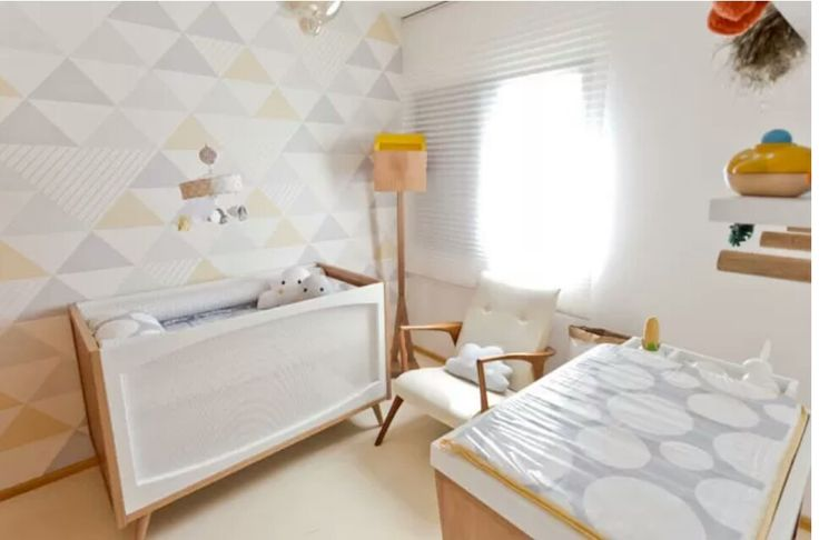 Quarto de recém nascido decoração clean apartamento pequeno