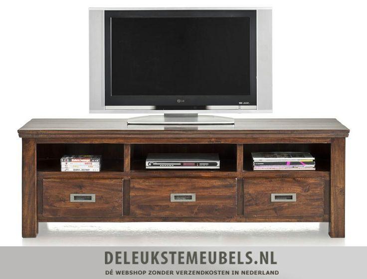 De vormgeving van dit tv-meubel Cape Cod 160cm van de Henders & Hazel collectie doet je denken aan vroeger. De kast heeft drie laden en drie niche. De handgrepen zijn gemaakt van donkergrijs oud metaal wat perfect in de stijl van dit meubel past. Snel leverbaar! http://www.deleukstemeubels.nl/nl/cape-cod-tv-dressoir-160cm/g6/p88/