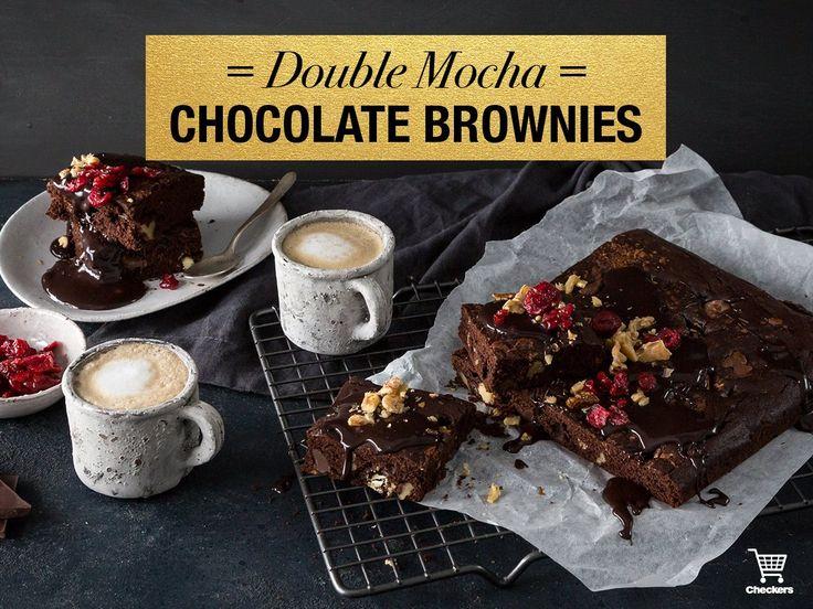 Double chocolate mocha brownies!
