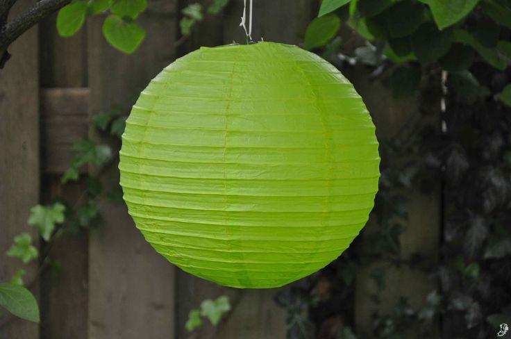 Lampion - Lime groen (30 cm & 40 cm)
