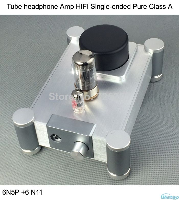tube headphone amplifier hifi single ended pure class a shuguang 6n5p 6 n11whole aluminum casing. Black Bedroom Furniture Sets. Home Design Ideas