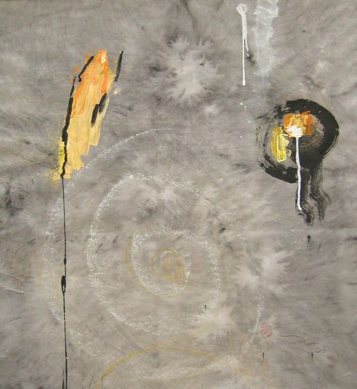 Another Day II, 2003, 50x77cm<br> Ink/mixed media on rice paper<br> Private Collection