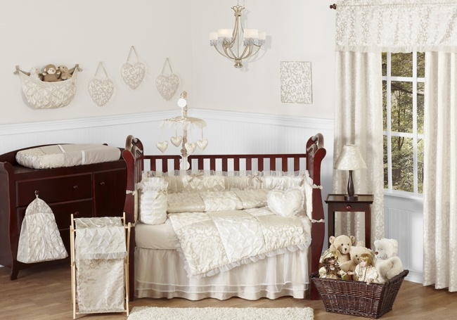 Elegant Sweet JoJo Designs Neutral Cream Luxury Bedding