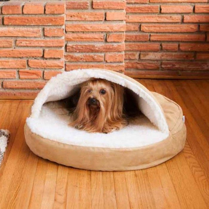 It's got a one-of-a-kind look. It's got a one-of-a-kind feel. No dog or pet can resist the enveloping comfort of the Cozy Cave Dog Bed. Often referred to as a nesting dog bed, it's perfect for dogs who enjoy staying under the covers.