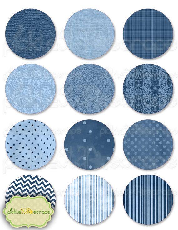 Circles Vol2 - 12 Individual Circles - PDF File - Printable Circles - Clip Art Printable Pack - Textured Clip Art - INSTANT DOWNLOAD