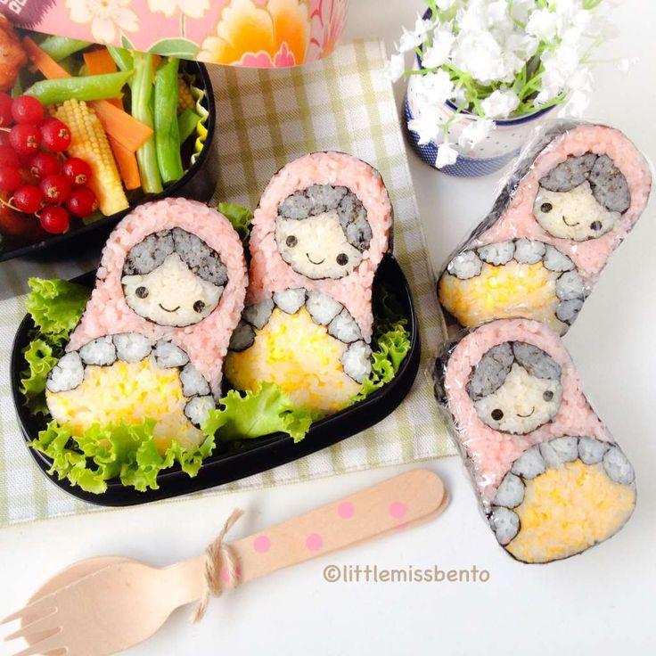 Russian nesting doll sushi bento