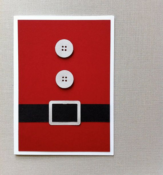 Santa Holiday Card. Rouge noir blanc. Biscuits et par imeondesign