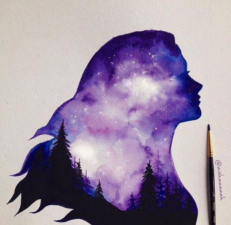 Крутые легкие рисунки красками