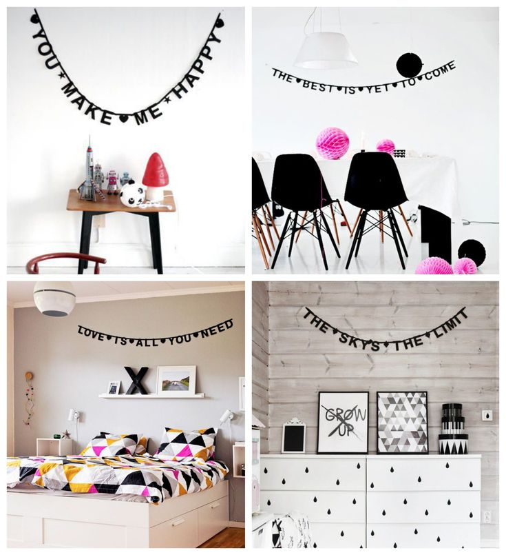 Project bedroom: Word banner