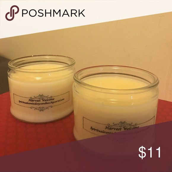Soy Wickless Candles (14 ounces) These wickless candles can be placed on a plate warmer. Once the wax is warmed it gives the same fragrance as a candle without the flame.  Each candle is made with 100% soy flakes and grade A oils.  It comes in a variety of fragrances. Other