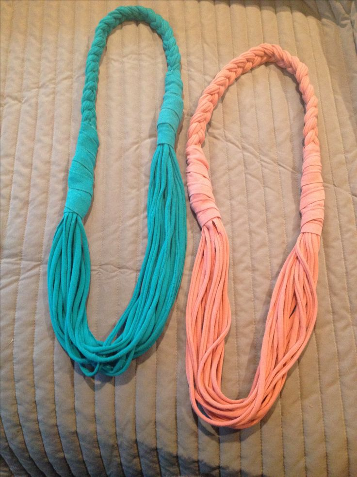 My new DIY T-shirt scarves. This is the website tutorial that I used to make them. I love them for summer over a tank.