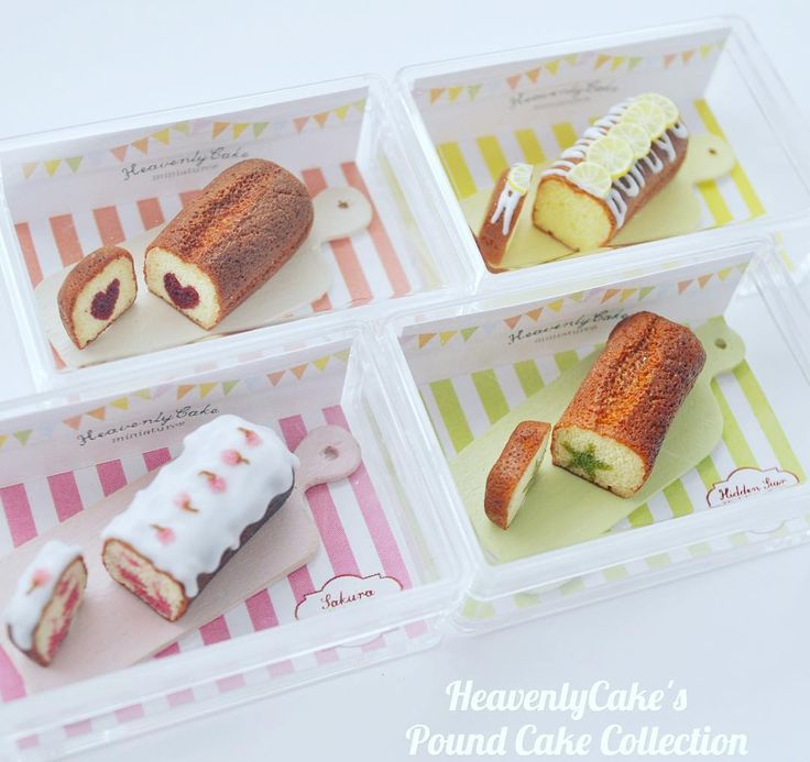 Pound cake collection Displayed all the pound cakes in the mini boxes :) love colourful❤️hidden heart, hidden star, lemon and Sakura pound cake